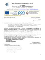 """lettera invito PON FSE C1PARIGI - Liceo Scientifico e Linguistico """"O"""