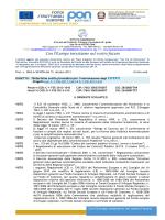 Determina Selezione Esperti Progetti PON C1-FSE-2013