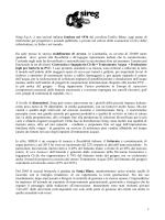 1 Sireg S.p.A. è una società italiana fondata nel 1936 dal cavaliere