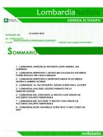 [Lombardia] NOTIZIARIO DEL 14 LUGLIO 2014
