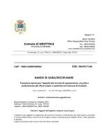 D.S.G. 00446-2014_BANDO DI GARA E DISCIPLINARE RIFIUTI