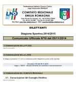 Comunicato n.18 - FIGC CRER