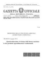 DECRETO 5 giugno 2014 - Ministero delle Politiche Agricole e