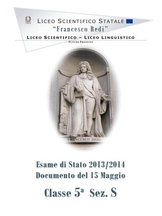 5ªS - Liceo scientifico Redi