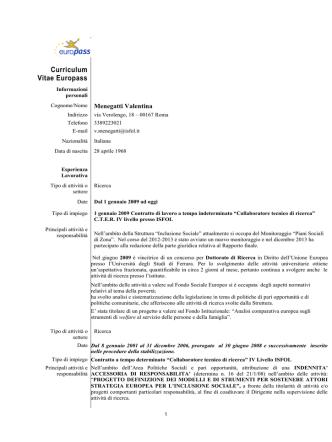 Curriculum Vitae 2014docx, Valentina Menegatti