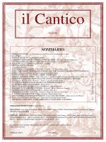 Febbraio 2014 - Il Cantico - Fraternità Francescana Frate Jacopa