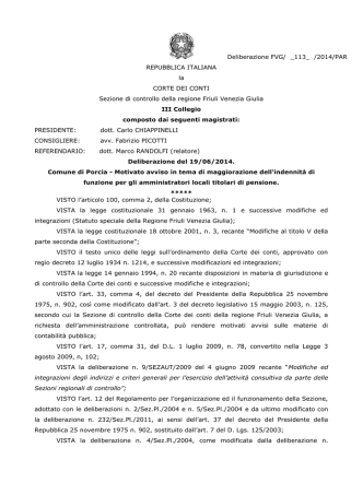 Deliberazione FVG/ _113_ /2014/PAR