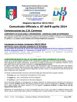 cu 87 2013-2014 - Comitato Regionale Campania
