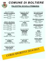 corsi sportivi 2014-2015