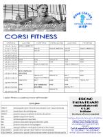 Programmazione Fitness Nuoto Stagione 2014/2015