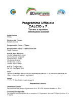 Programma Ufficiale CALCIO a 7