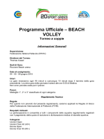 Programma Ufficiale – BEACH VOLLEY