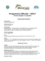 Programma Ufficiale – GOLF