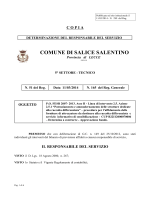 File: Determina n.165 - Comune di Salice Salentino