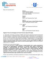 UNAPASS, Lettera al CdA del Fondo Pensione Agenti, alla COVIP e al
