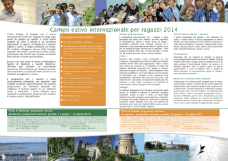 Campo estivo internazionale per ragazzi 2014