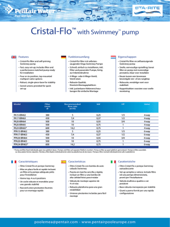 Cristal-Flo™ with Swimmey™ pump