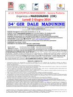 34° GIR DALE MADUNINE