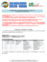 Campionato Provinciale 2014/2015 Calcio a 11