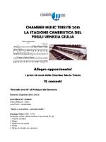 CHAMBER MUSIC TRIESTE 2015 LA STAGIONE CAMERISTICA