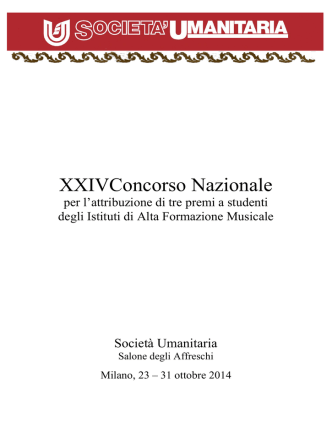 Concorrenti XXIV Concorso Nazionale