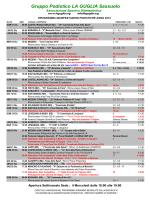 Programma Corse Giugno 2014 - Gruppo Podistico La Guglia