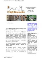 Canale informativo del Comune di Chiari Numero 229 28 Aprile