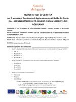 RISPOSTE TEST di VERIFICA per l