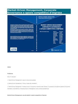 24. Market-Driven Management, Corporate Governance e spazio