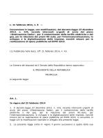 L. 21 febbraio 2014, n. 9 (1). Conversione in legge, con
