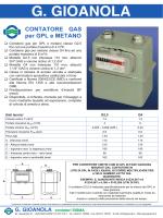 CONTATORE GAS per GPL e METANO