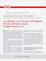 A colloquio con Fiorenzo Alborghetti, Direttore Risorse umane