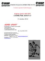 Comunicato 3 del 15 ottobre