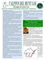 I Alpinn del Munt Goi n.23 dicembre 2014
