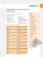 API618 Reciprocating Compressors for Refineries