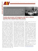 Newsletter marzo aprile 2014 - Associazione Italiana di Valutazione