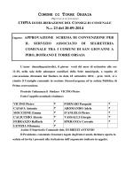 COMUNE DI TORRE ORSAIA N.ro 23 del 20-09-2014