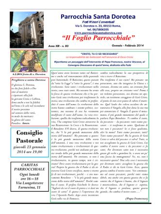 clicca qui - Provincia Romana dei Frati Minori Conventuali