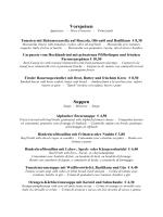 Vorspeisen Suppen - im Gasthof Jakober in Alpbach