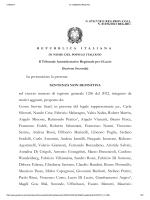 Sentenza Tar Lazio 7517 2012