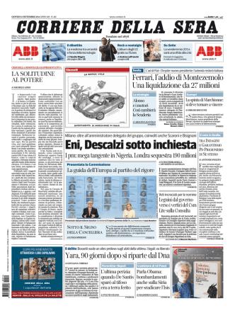 Corriere della sera - 11.09.2014