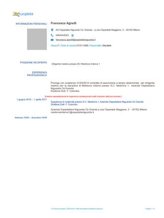 Agnelli_CV - Ospedale Niguarda Cà Granda