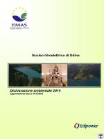 Nucleo Idroelettrico di Udine Dichiarazione ambientale