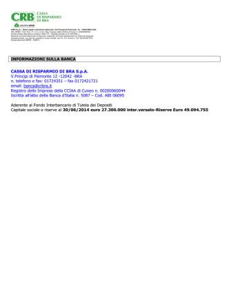 Carta Utylia ICCREA Banca - Cassa di Risparmio di Bra SpA