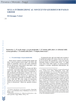 G. VETTORI, Sulla Introduzione al Novecento giuridico di Paolo Grossi