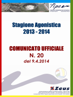 Stagione Agonistica Stagione Agonistica 2013