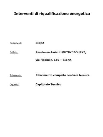 capitolato tecnico – allegato n. 2