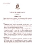ORDINANZA n. 7 del 27 gennaio 2014 Disciplina degli orari e