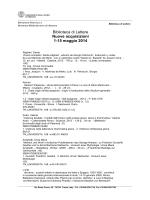 Biblioteca di Lettere Nuove acquisizioni 1