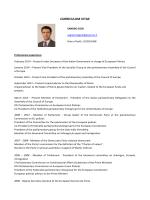 curriculum vitae - European Parliament
